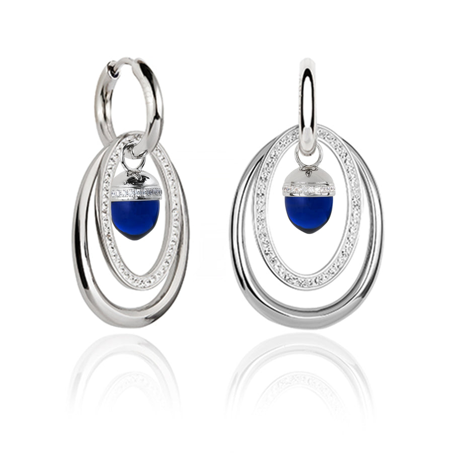 Electric Blue Acorn ear charms (3926674767958)
