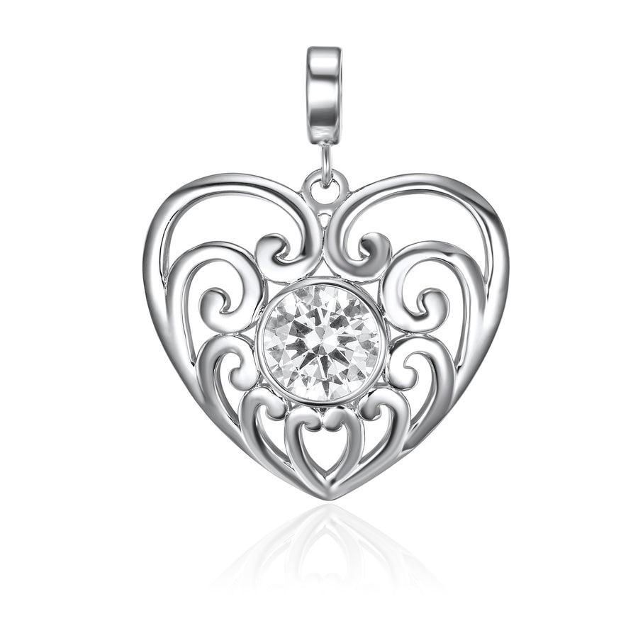 Silver From The Heart pendant* (3926673915990)