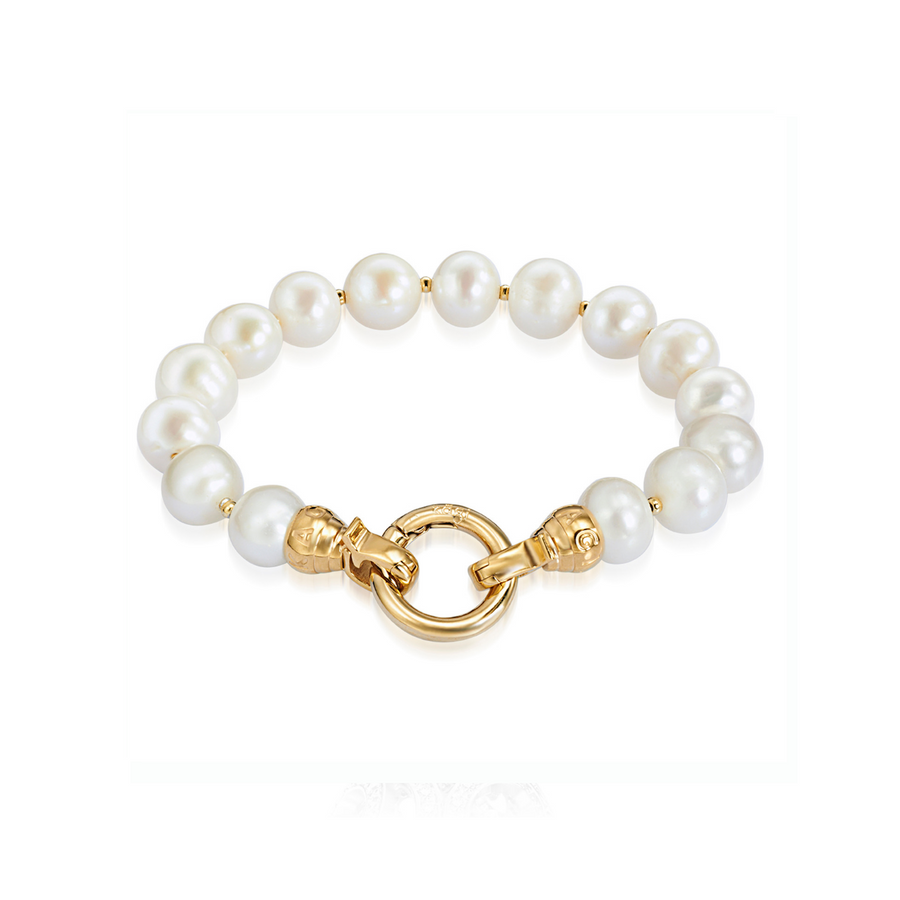 Gold Pearl Bracelet Small (3926673358934)