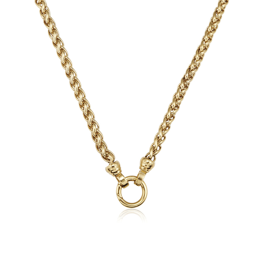Gold Helix Necklace 49cm