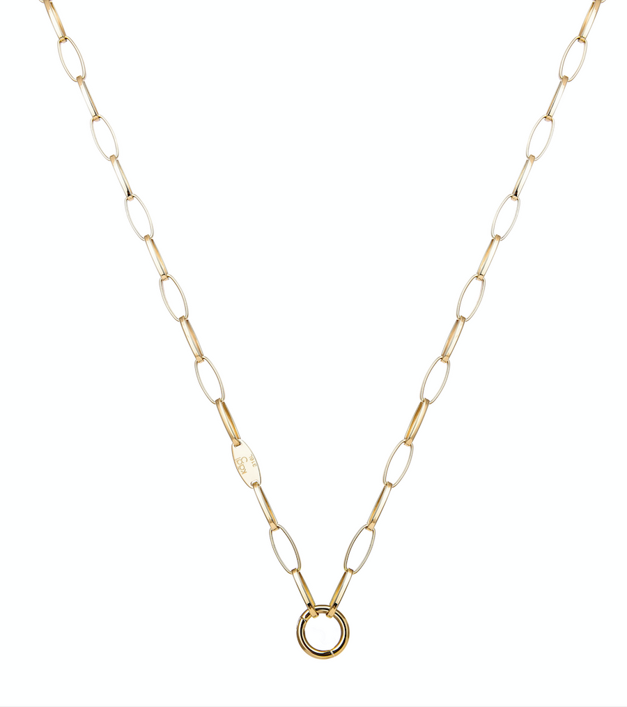 Gold Links Necklace 75cm (3926672769110)