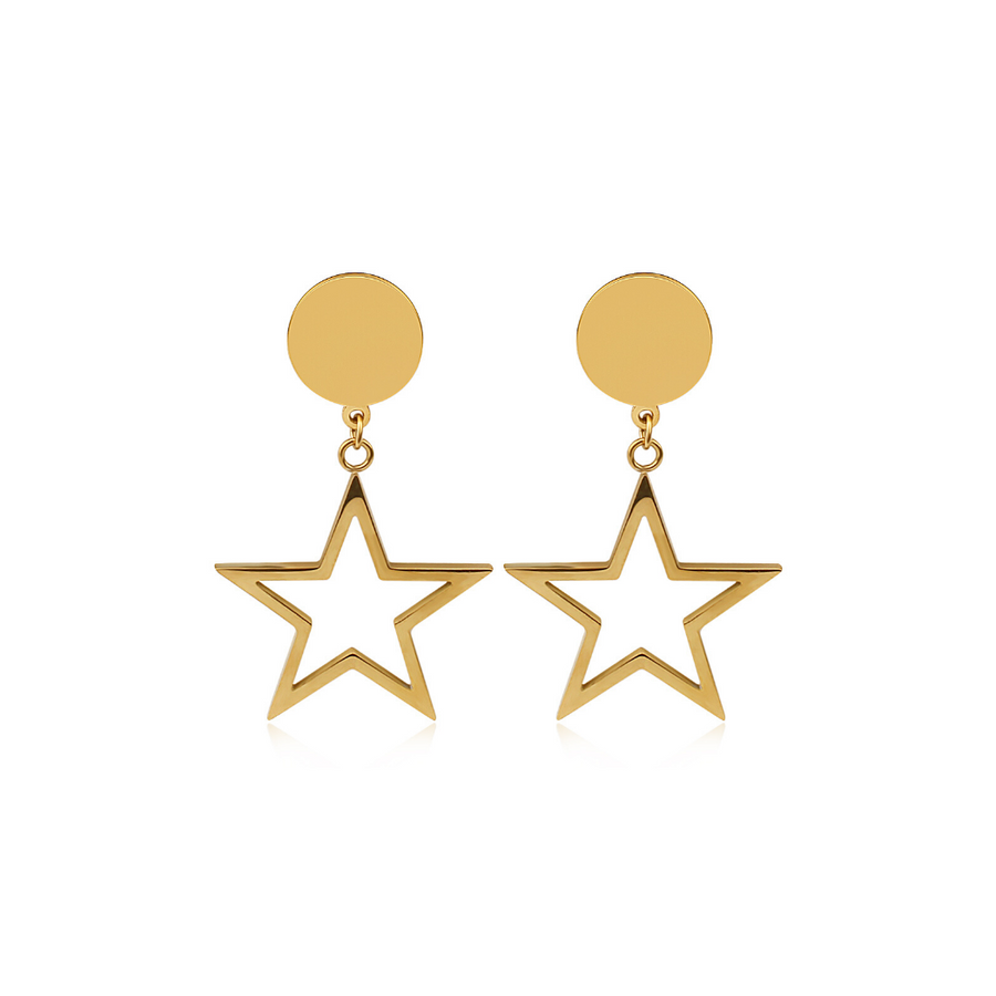 LAST PAIR Gold Starfall Earrings
