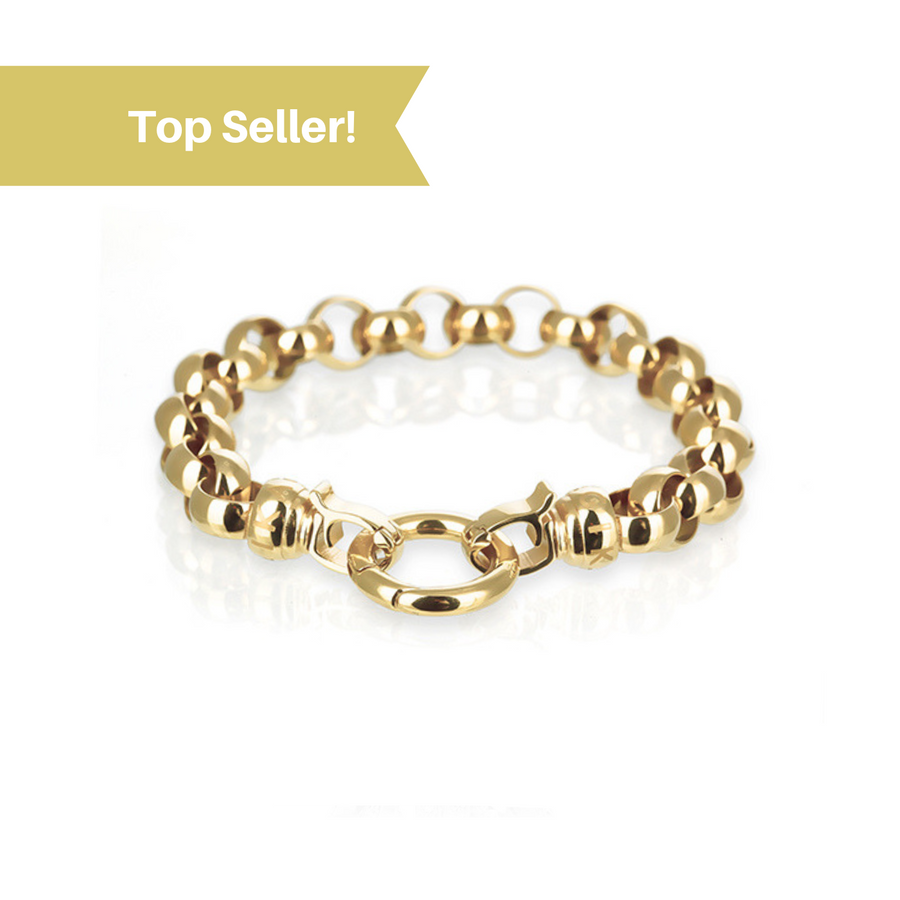 Gold Steel Me Bracelet Medium