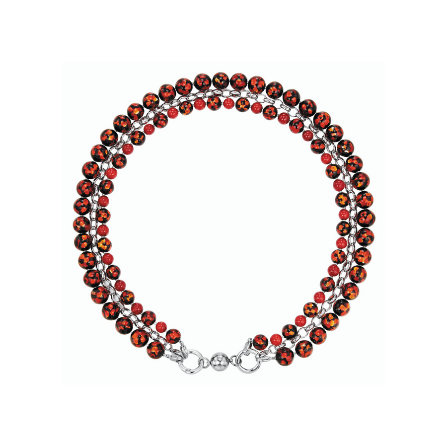Kagi Red Velvet Cascade Necklace* (4458886103126)