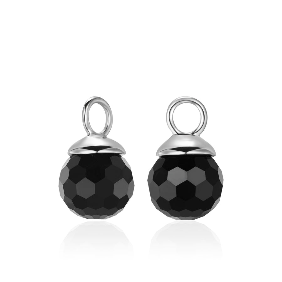 Jet Black Ear Charms