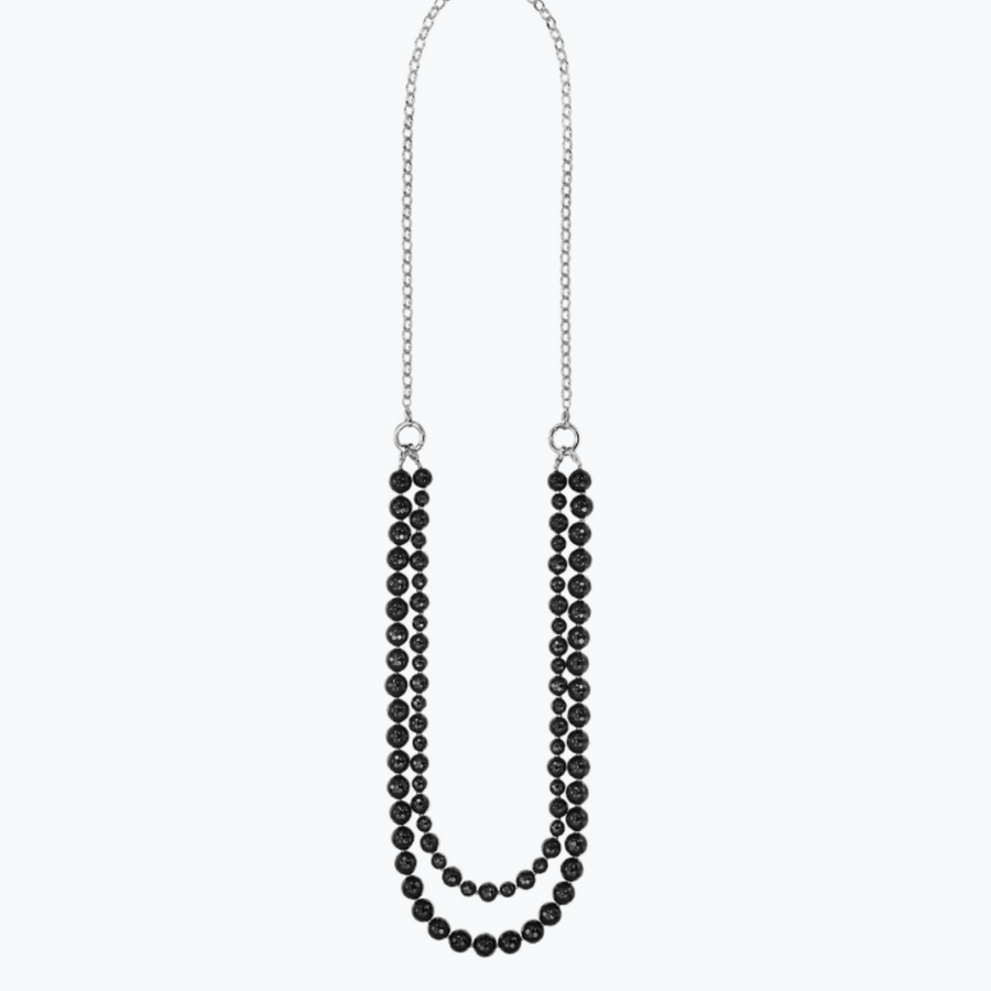 Kagi Jet Cascade Necklace