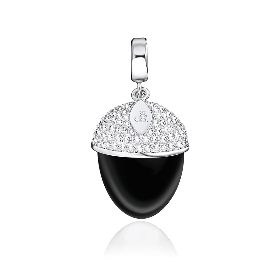 Midnight Acorn Pendant (3926670049366)