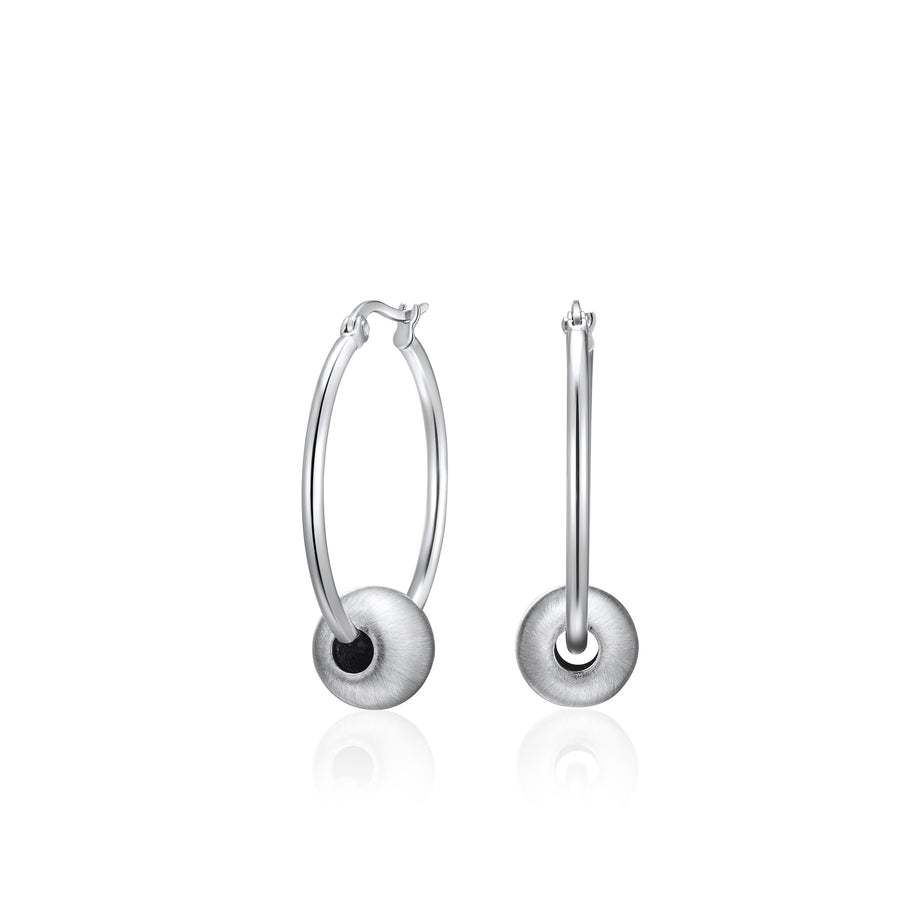 Brushed Silver Night Earrings* (3926669262934)