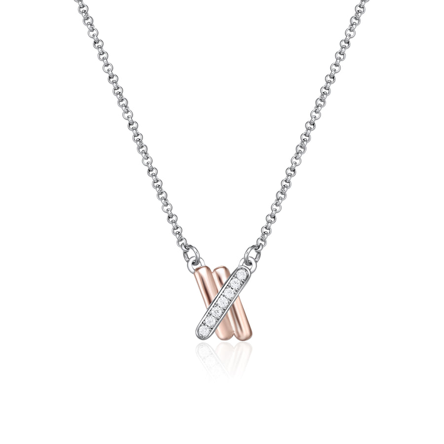 Kagi Sterling Silver Petite Kisses Necklace* (3926677356630)