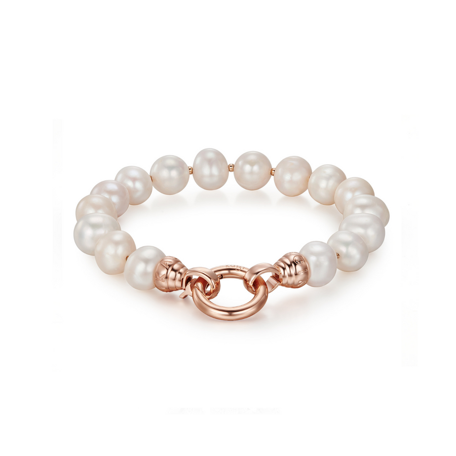 Kagi Rose Pearl Bracelet Medium (3926683222102)