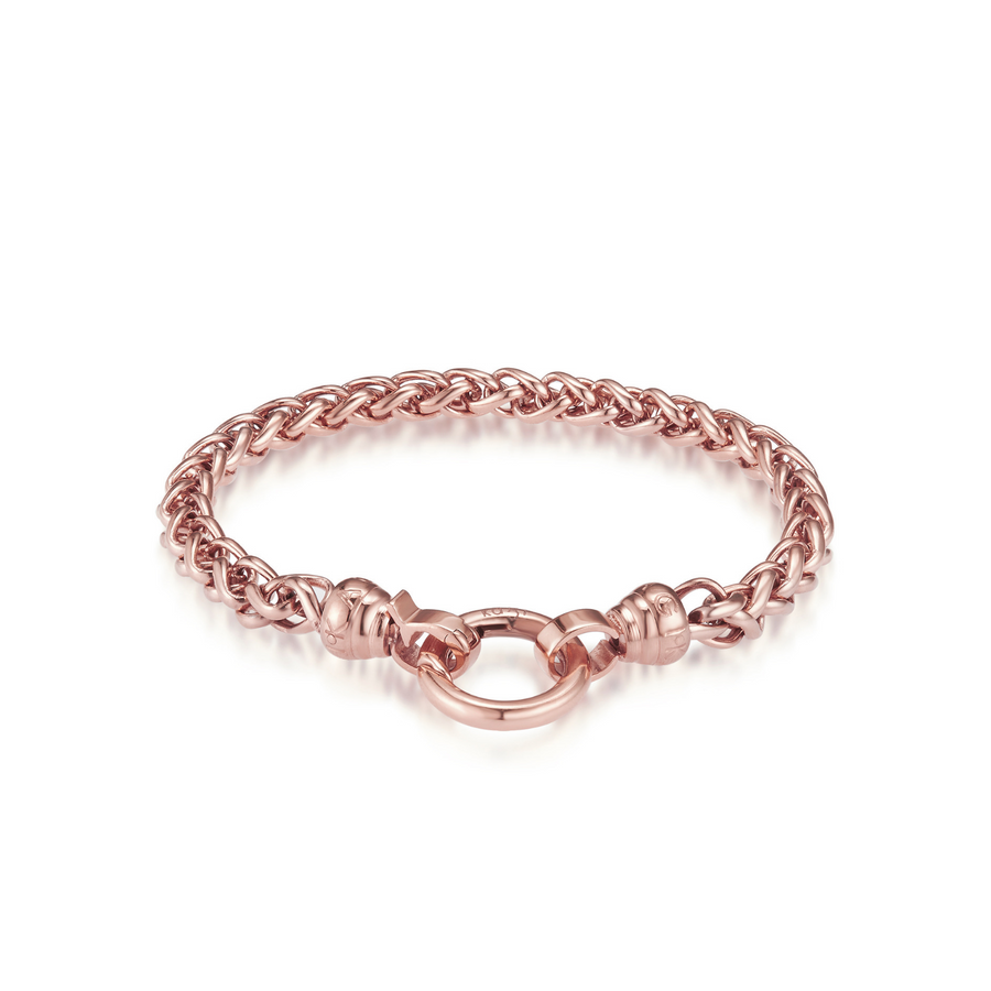 Rose Helix Chain Bracelet - Medium (3926666313814)