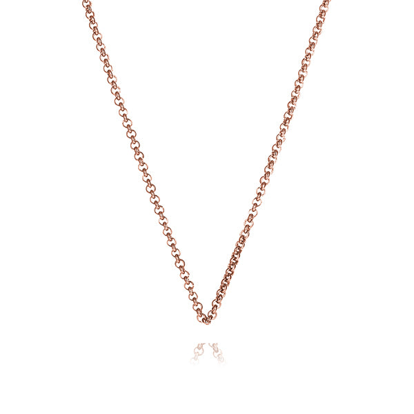 Rose Gold Steel Me Petite Necklace 50cm (3926665429078)