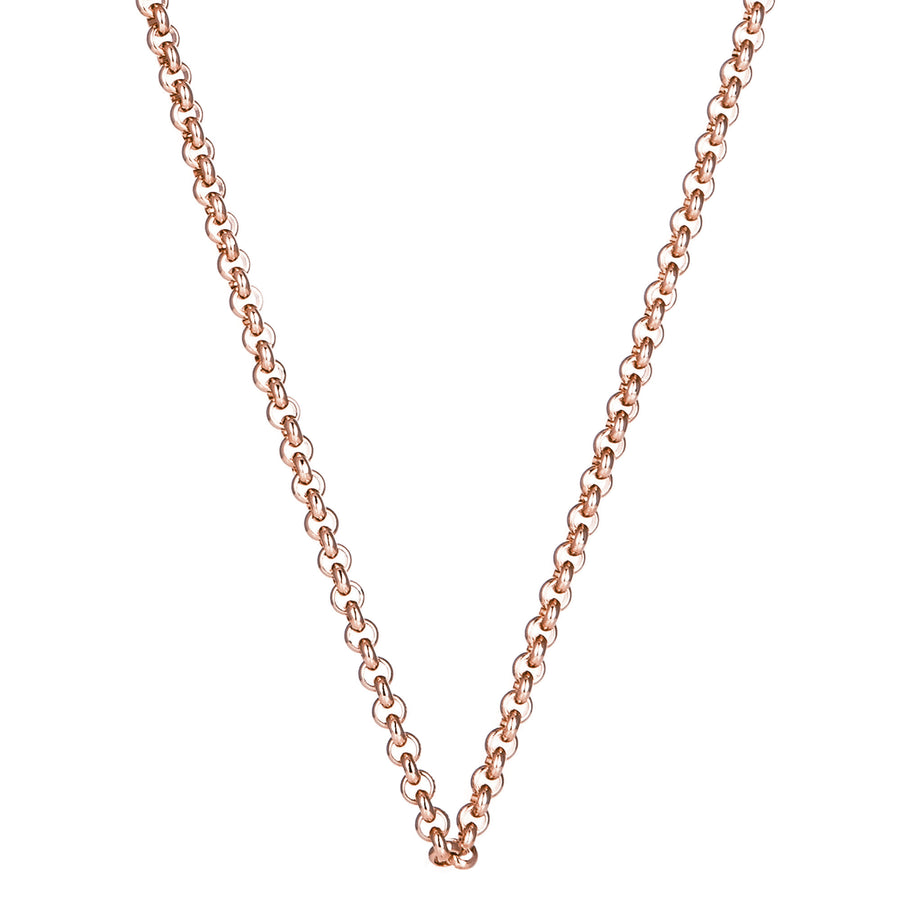 Rose Gold Steel Me Petite Necklace 80cm