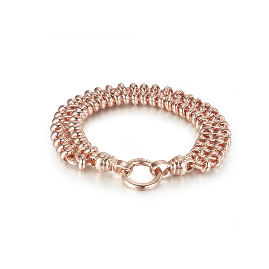 18k Rose Xena Bracelet Medium* (3926665363542)