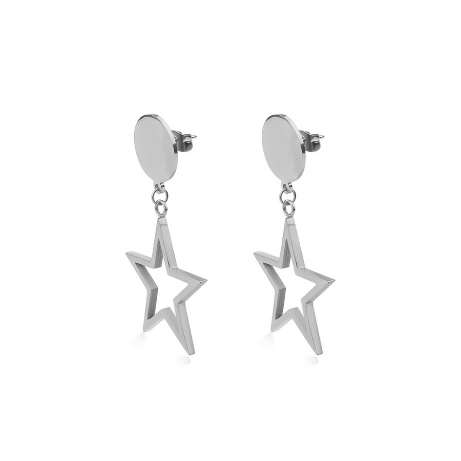 Silver Starfall Earrings (3926684565590)