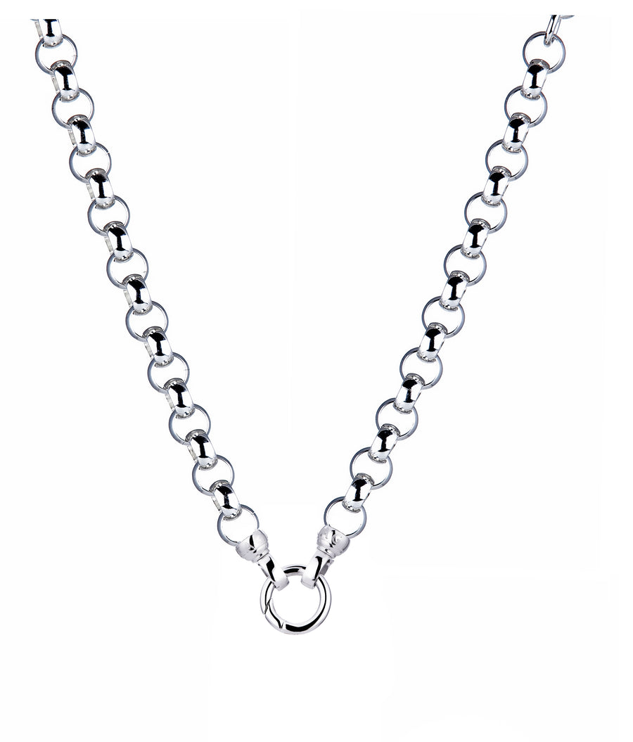 Silver Steel Me Necklace 49cm