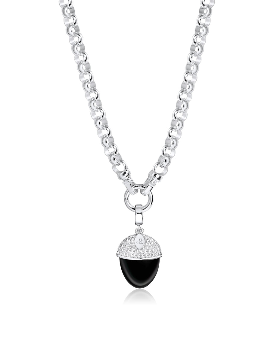 Silver Steel Me Necklace 49cm (3926663069782)