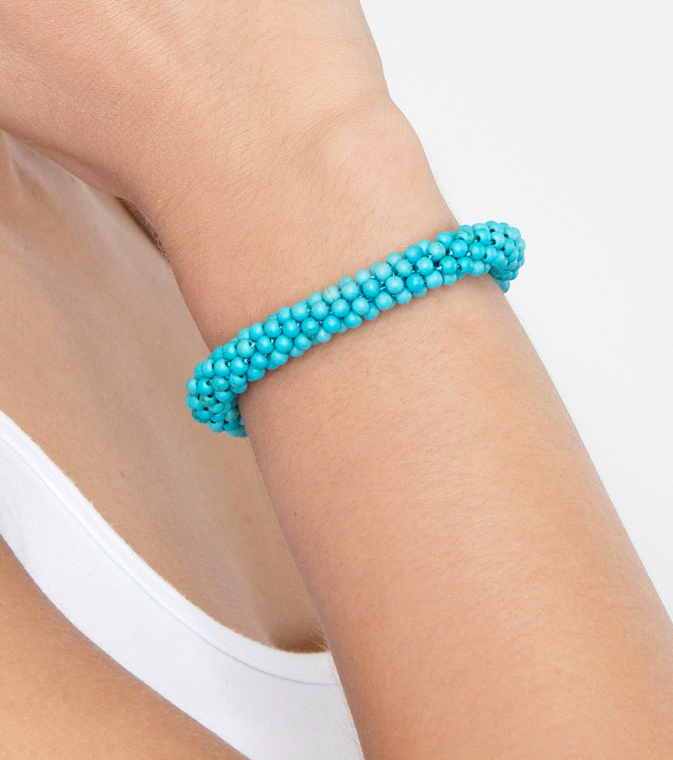Turquoise Weave Bracelet Small