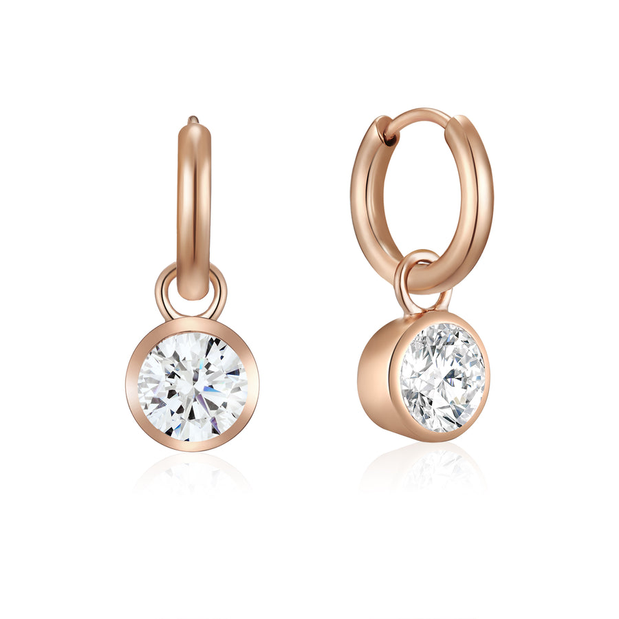 Rose Solitaire Ear Charms (3926684336214)