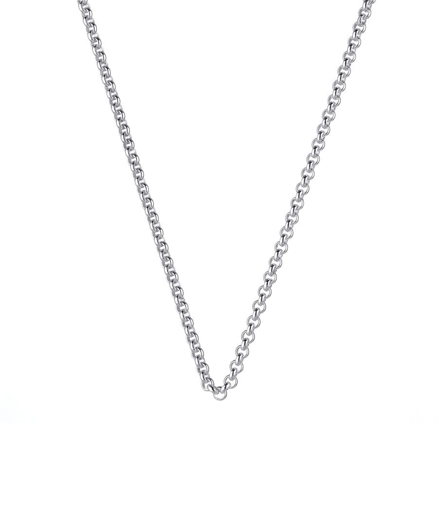 Silver Steel Me Petite Necklace 50cm (3926662905942)