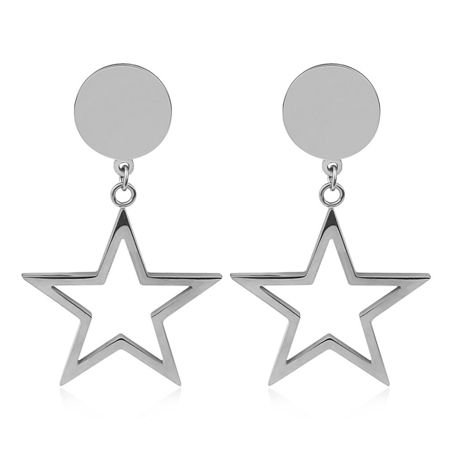 Silver Starfall Earrings