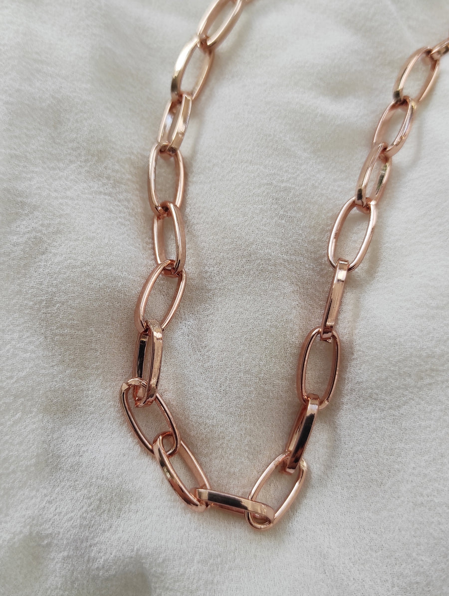 Re-Stocked! Rose Gold Links Necklace 75cm