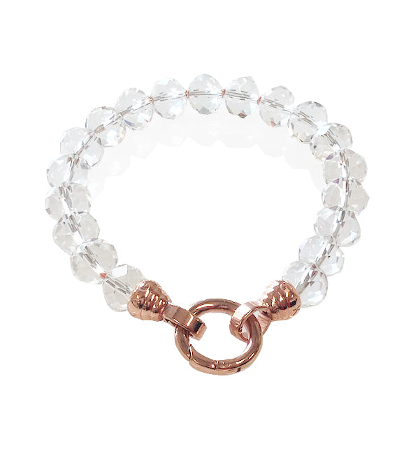 Rose Crystal Opera Bracelet - Medium (4343597727830)