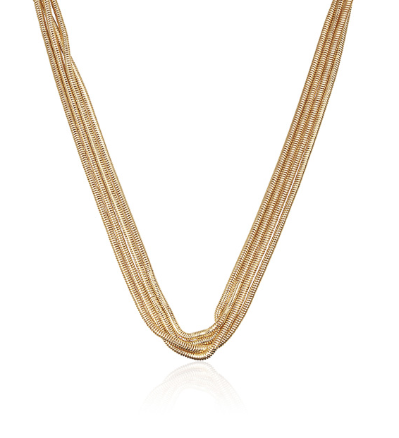 WOW Luxe Medusa Necklace Gold 49cm