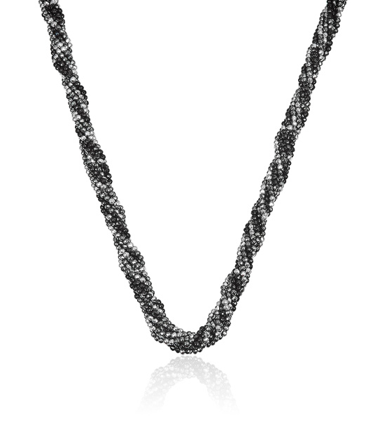 BARGAIN! Midnight 7 Strand Confetti Necklace 49cm