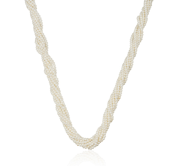 EXCLUSIVE! Freshwater Pearl 7 Strand Twist Necklace