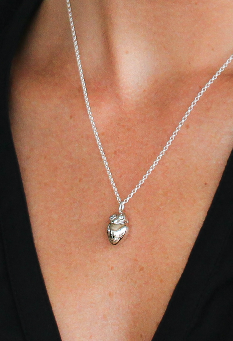 Child's Sterling Silver Owl Necklace (8 - 16 years) including a $20 Donation to Child Cancer!