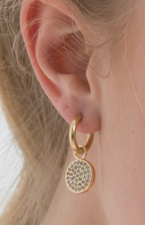 Gold Cosmos Ear Charms (3926673653846)