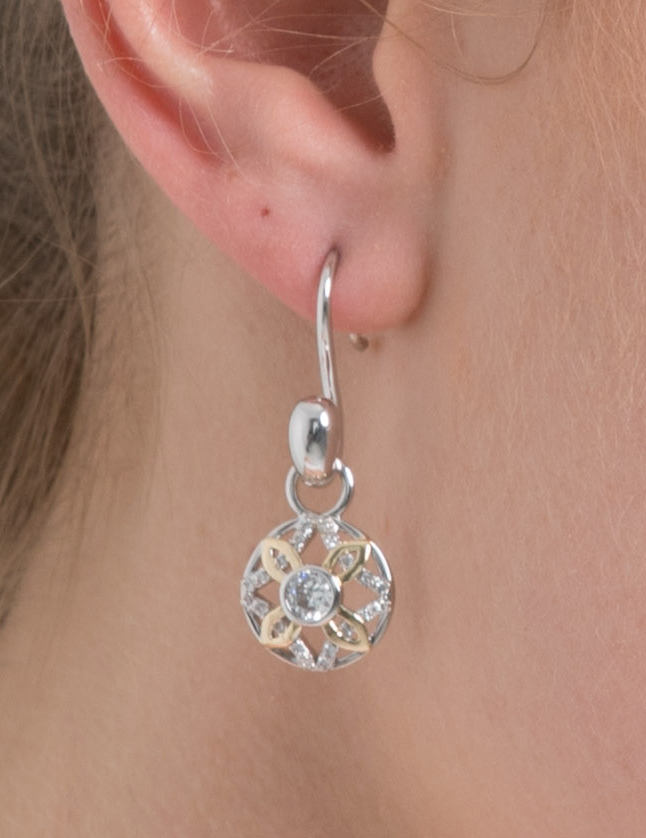 Sunburst Silver Ear Charms