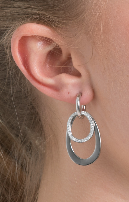 Silver Love Loops Ear Charms (3926670278742)