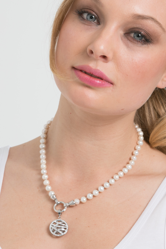 Cream Pearl Necklace 49cm