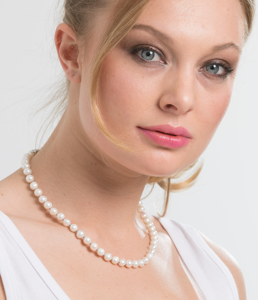 Cream Pearl Petite 46cm Necklace (3926675325014)