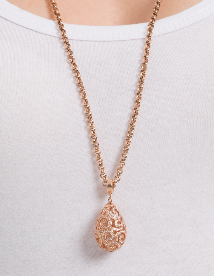 Rose Gold Steel Me Petite Necklace 80cm (3926665396310)