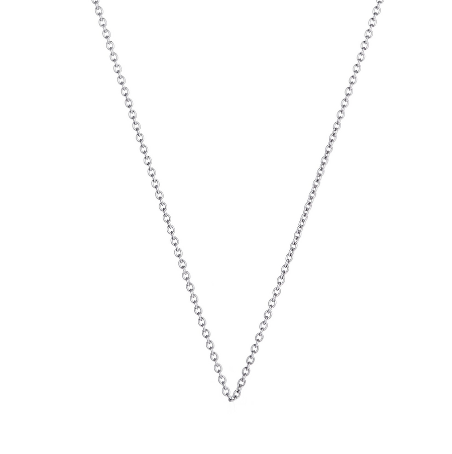 Silver Superfine Necklace 47cm (3926676865110)