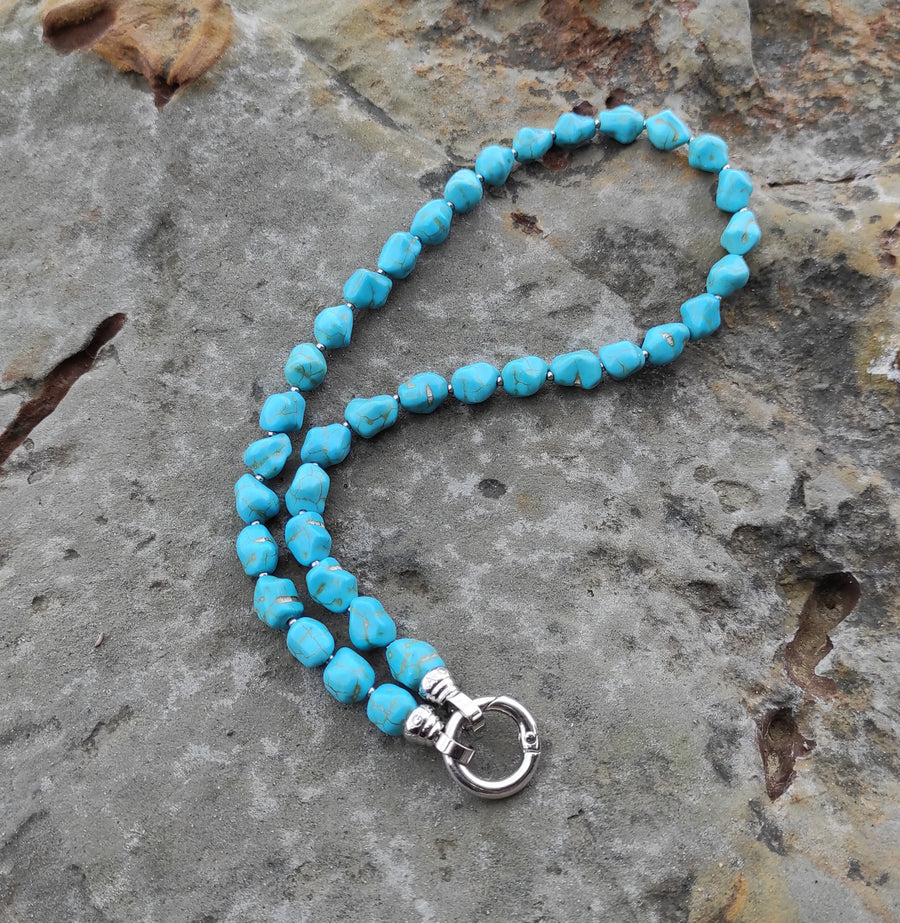 Turquoise Nugget Necklace 49cm