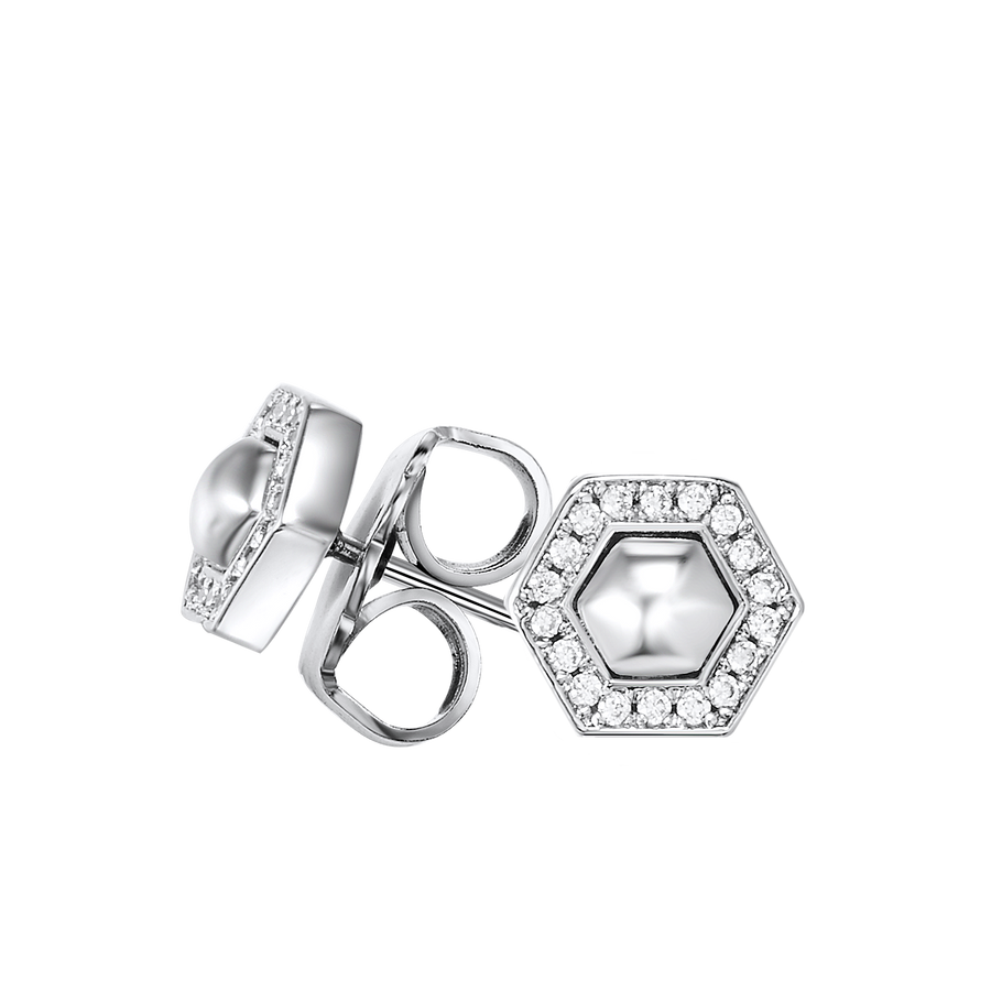 Kagi Sterling Silver Geometry Studs