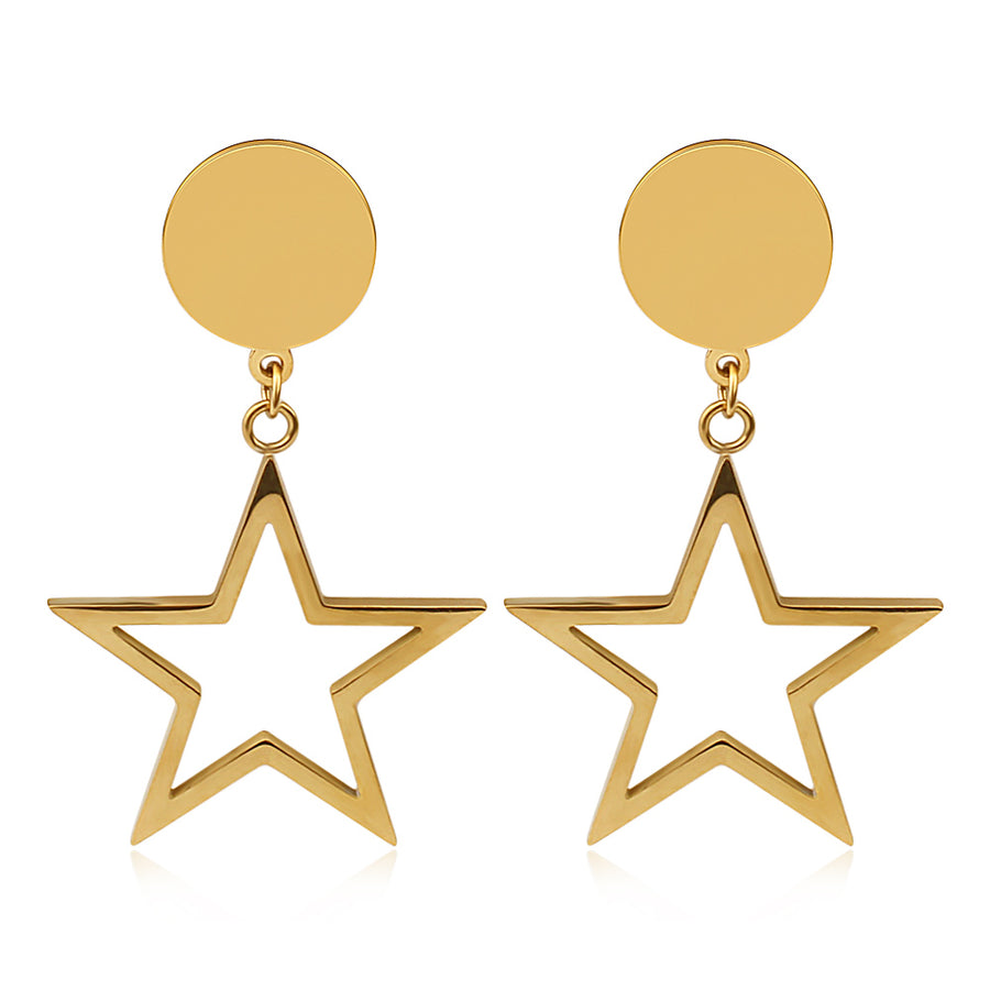 Gold Starfall Earrings (3926684532822)