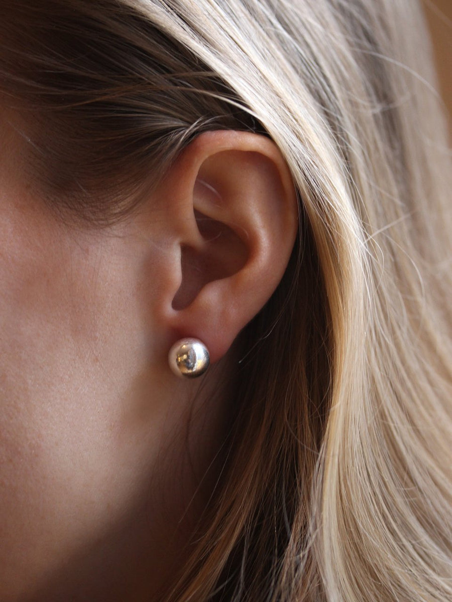 Gold Bubble Studs (3926685155414)