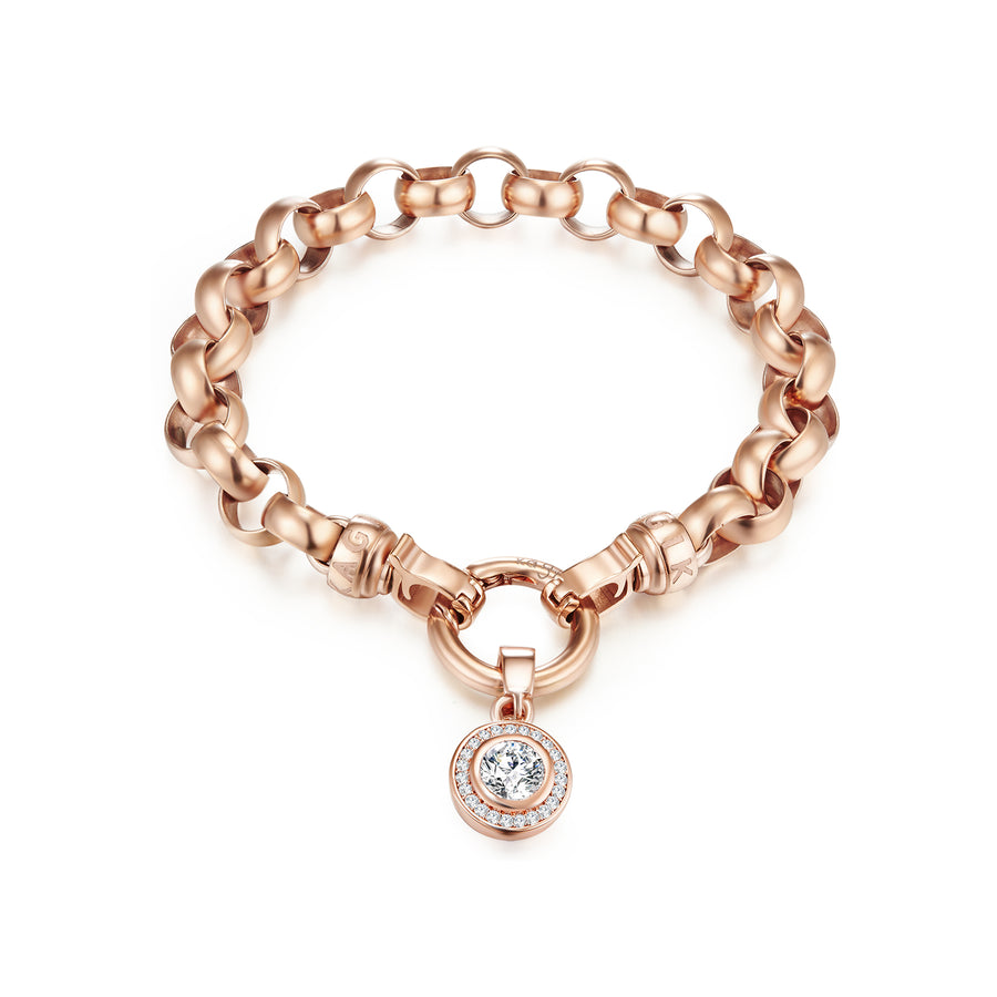 Rose Gold Steel Me Bracelet Small (3926665461846)