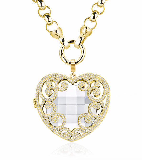LAST ONE! 11k Gold Passionate Heart Catcher & Insert