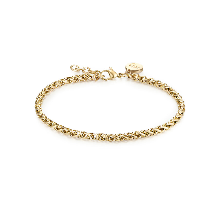 11k Gold Helix Petite Bracelet Adjustable