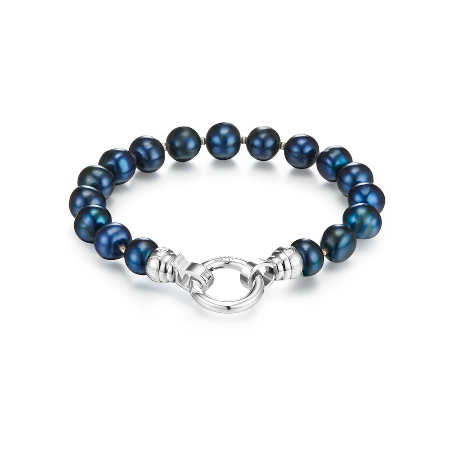 Blue Lagoon Pearl Bracelet Medium