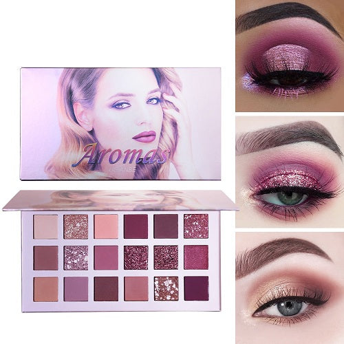 Glitter Matte Nude Eye Shadow 18 Color-Aromas Palette Free - Desire Lust Sex LoveHoney