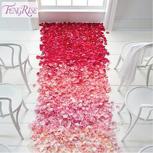FENGRISE Wedding Events Decoration 500pcs Silk Rose Petals Free - Desire Lust Sex LoveHoney