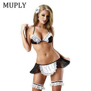 MUPLY 2017 New Ladies Sexy Lingerie Hot Sheer Naughty Maid Free - Desire Lust Sex LoveHoney