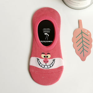Summer Cartoon Cotton Thin Women Boat Socks Creative Casual Cotton Free - Desire Lust Sex LoveHoney